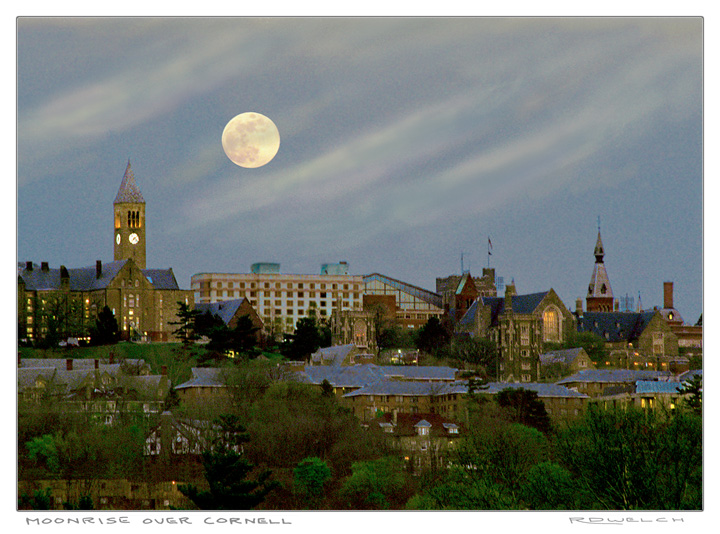 Moonrise Over Cornell