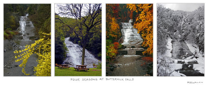 Four Seasons at Buttermilk Falls